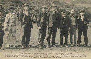 logwy La huelga en la minería de Cuenca Longwy. 1905. Los delegados a la huelga. Boudoux
