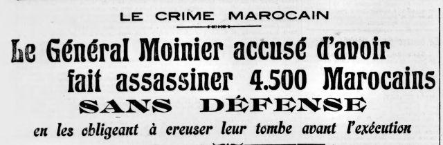 Arch. BNF / Gallica. La Bataille Syndicaliste n°416 du 15/06/1912. Dire que certainEs se prévalent toujours de la grandeur de la France, de ses bienfaits colonialistes...