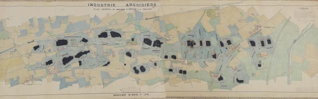 Carte 1874. Arch. Trélazé extrait du site des Archives numériques de Trélazé, allez jeter un œil c'est sympa